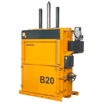 b20 medium vertical baler in yellow