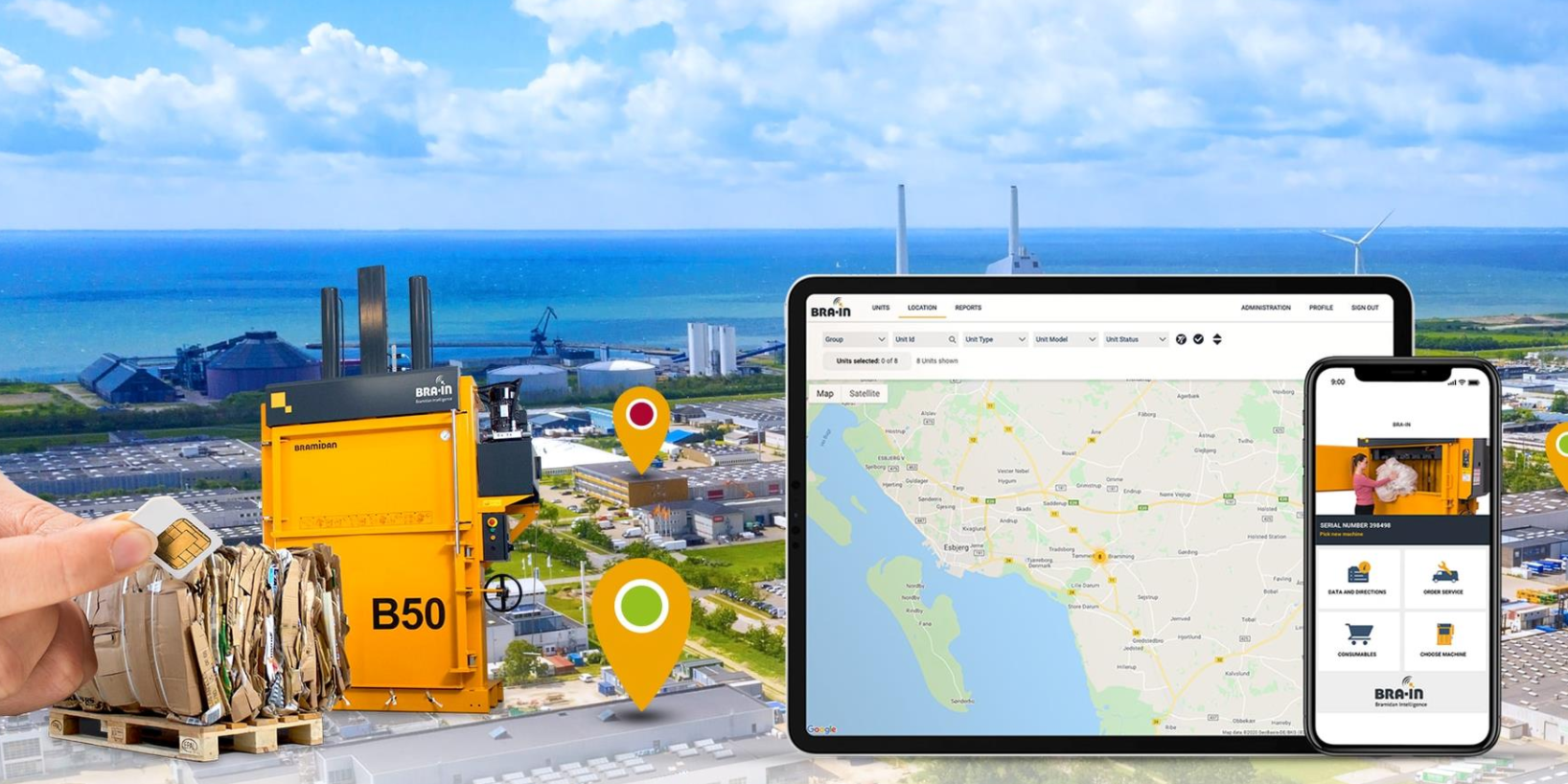 connect and analyse your waste equipment